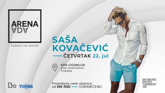 Saša Kovačević otvara Arenu Adu: Dva meseca najboljeg letnjeg provoda u Beogradu